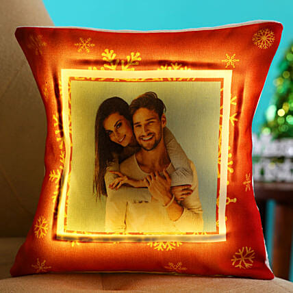 Merry Christmas Personalised LED Cushion Hand Delivery