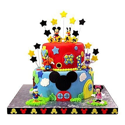 Mickey Mouse Clubhouse Cake 3kg:2 Tier Cake
