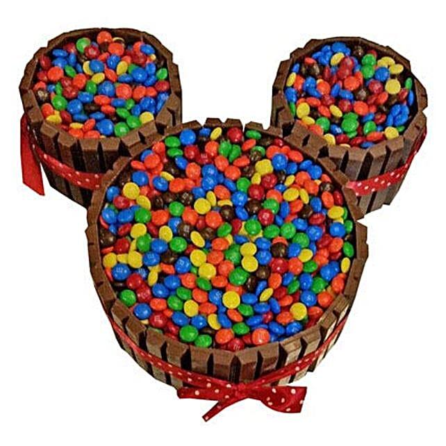 Mickey Mouse Gems Filled Kit Kat Cake for 1st Birthday 2kg