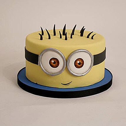 Minion Theme Cartoon Cake 1kg