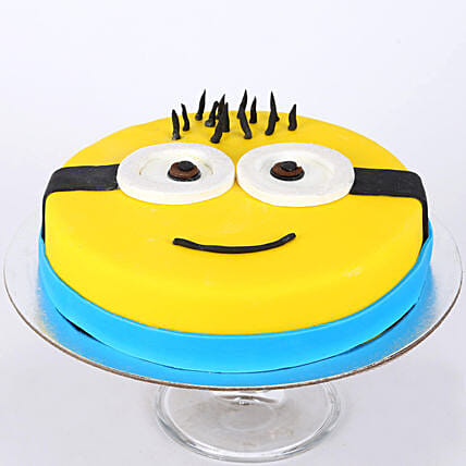 Minion Cute Cartoon Cake for Kids 1kg:Minion Theme Cake
