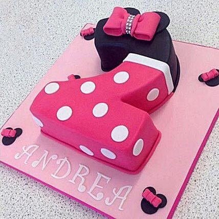 Minnie themed Number Cake 2kg:Alphabet Birthday Cake