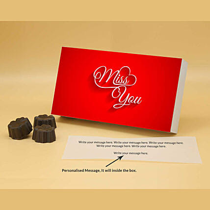 Online Miss You Personalised Chocolate Box