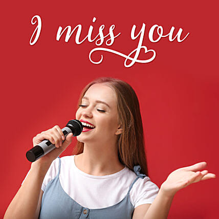 miss you song on video call by singer