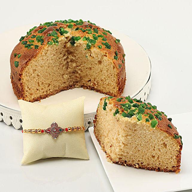 mix fruit dry cake with designer rakhi online
