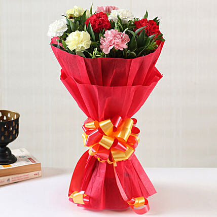 Online Mixed Carnations Bouquet