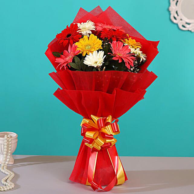 online floral bouquet:Gerberas