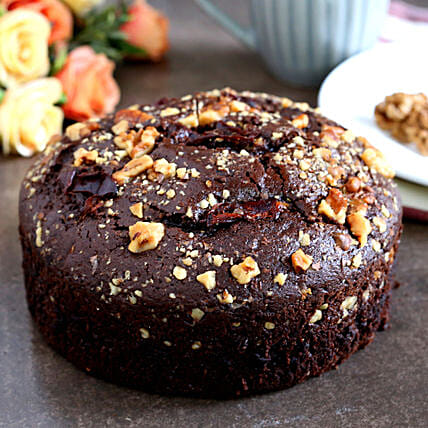 Delicious Mixed Dates & Walnuts Dry Cake:Send Christmas Gifts For Girlfriend