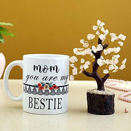 Mom You Are My Bestie Mug And Wish Tree Hand Delivery
