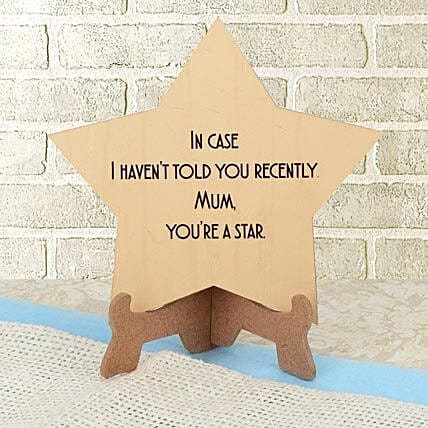 Star shaped tabletop for mother:Plaques