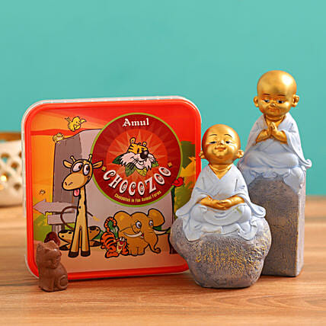 Send Monk Idol Set and  Chocozoo