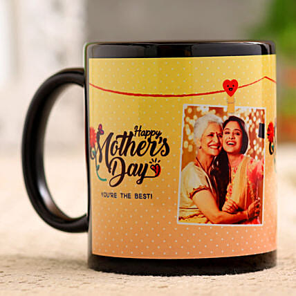 Mother s Day Personalised Black Mug Hand Delivery
