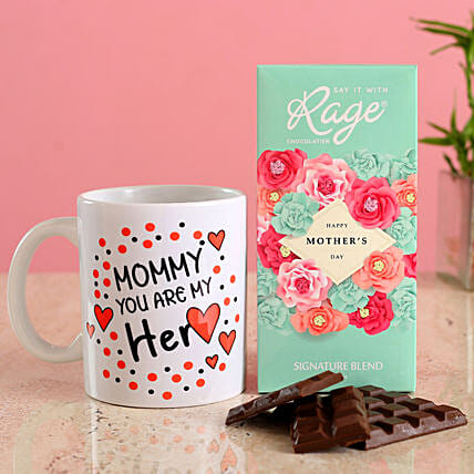 Mothers Day Special Chocolate Mug Combo:Gift Combos For Mothers Day