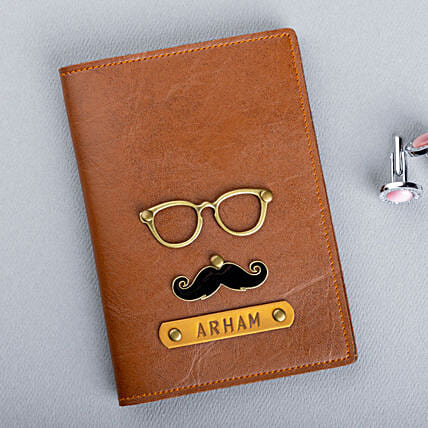 Moustache Passport Cover And Luggage Tag