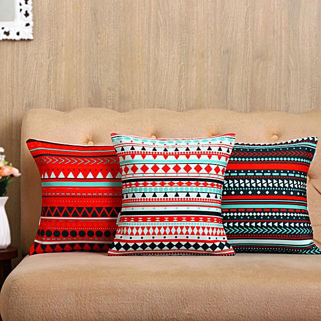 Multicoloured Cushion Cover Set Of 3