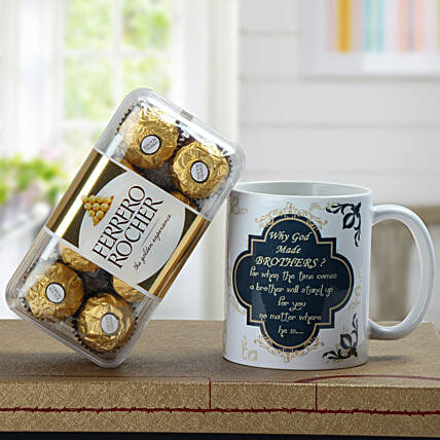 Chocolates and coffee mug combo