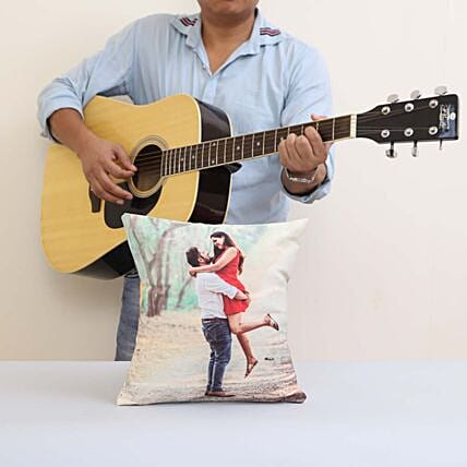 Musical Gift With Personalised Cushion:Gifts N Guitarist Service