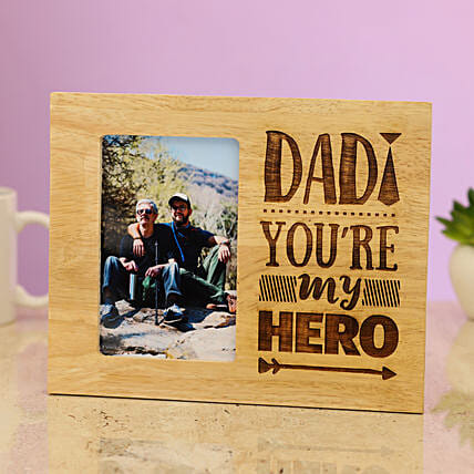wooden photo frame for dad