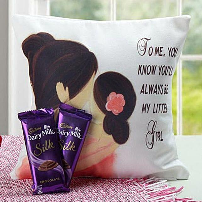 Cushion and chocolates combo