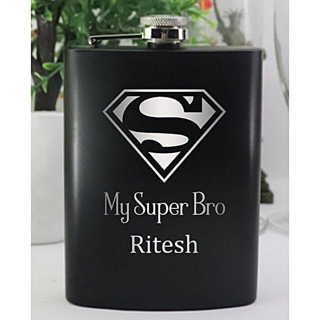 My Super Bro Personalised Hip Flask