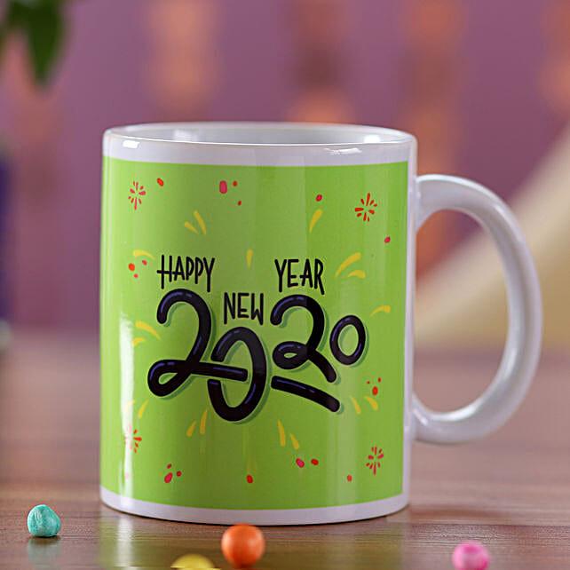 Online New Year Wishes Green Mug