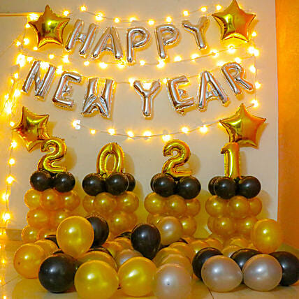 New Year Foil Balloon For Decoration Online:Decoration Services for Kids