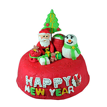 New Year With Santa 2kg Eggless