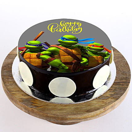 Ninja Turtles Chocolate Photo Cake- Half Kg | Gift Ninja Turtles Cake  Online - Ferns N Petals