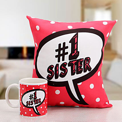 Cushion and mug for sis