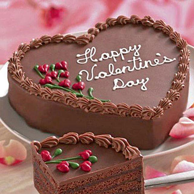 Chocolatey valentine wishes cake half kg