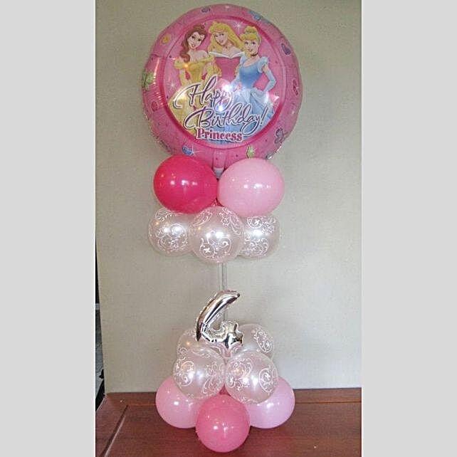 Numeric Princess Balloon Stand