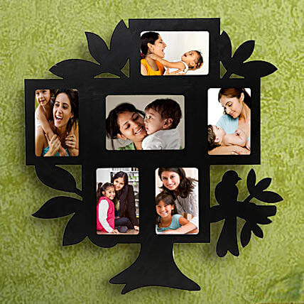 Nurturing Love Personalized Frame-1 personalized tree shaped 6 in 1 photo frame,sizes of all frame:1(35x55),2	(55x35),3 (45x65),4(55x35),5(55x35),6(55x35):Mothers Day Photo Frame Gifts
