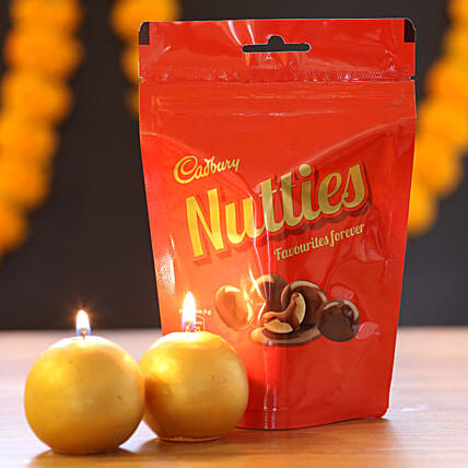 Candle and Chocolate for Diwali