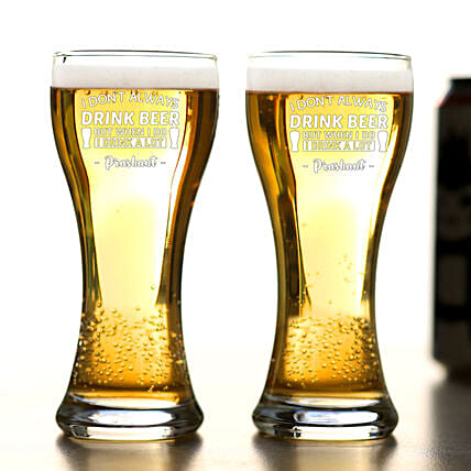 Ocean Imperial Personalised Beer Glass Set Of 2