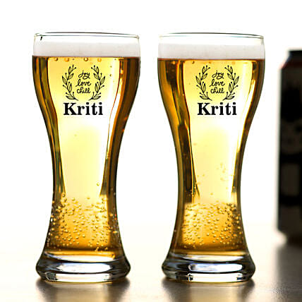 Ocean Personalised Beer Glass Set Of 2