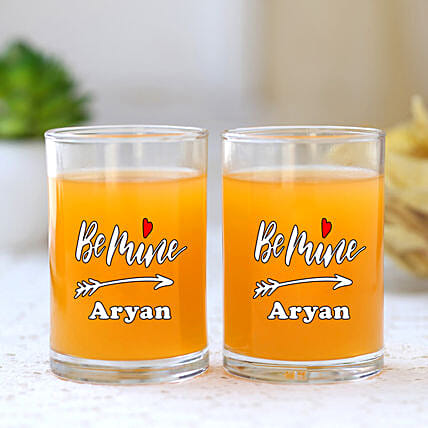 Ocean Personalised Juice Glass Set Of 2