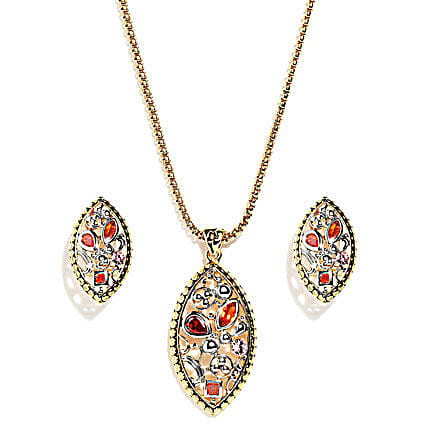 Olivary Irregular Pattern Jewelry Set