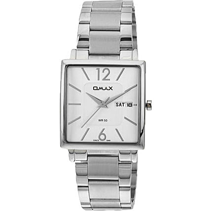 silver white dial watch for him