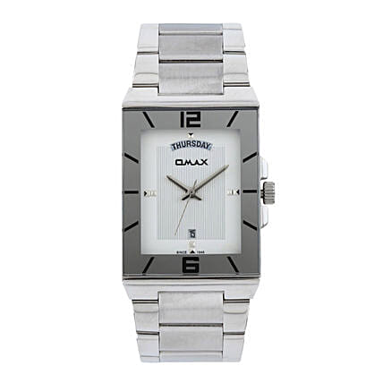 white dial watch for him