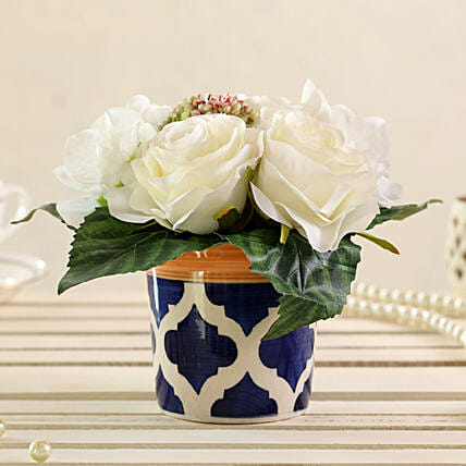 one bunch of artificial mixed white flowers online