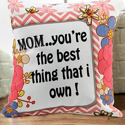 One Of A Kind Mom-12x12 inches cushion with Mothers Day greeting card