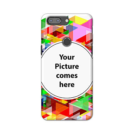 One Plus 5T Multicolor Personalised Phone Cover