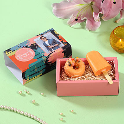 Orange Addiction Soaps Personalised Box:Personalised Birthday Gift
