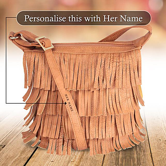 Orange Frill Sling Bag Online