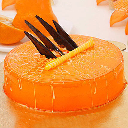 Orange Tangyliscious Cake 1KG Eggless
