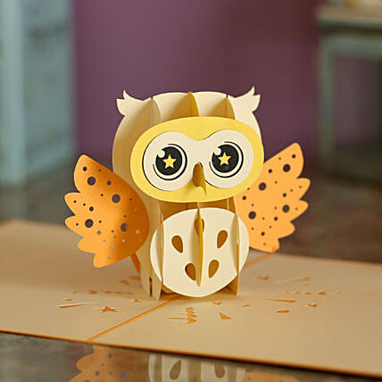 Online Owl Pop Up Card