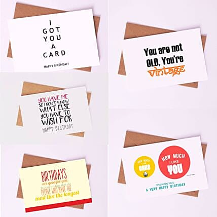 Pack Of Captivating Birthday Cards