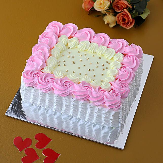 Pastel Floral Love Vanilla Cake