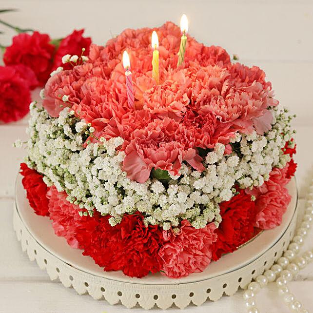 Pastel Hues Floral Fantasy Cake