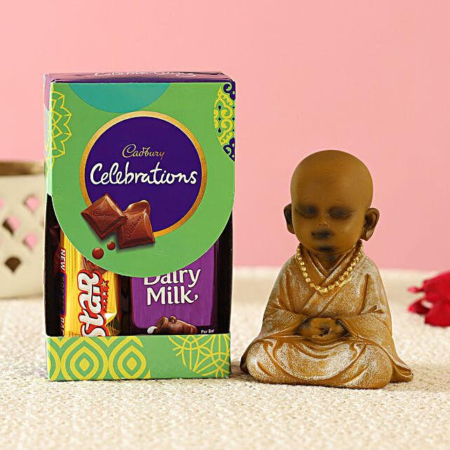 Peaceful Monk Idol & Cadbury Combo